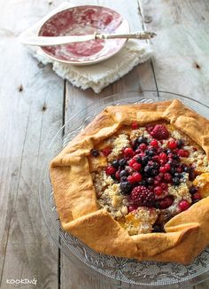 KOOKING: Galette de melocotones y frutos rojos