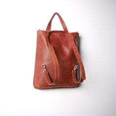 Handmade LEATHER BACKPACK /  multifunctional BAG  / Shoulder