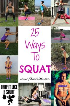 25 ways to squat