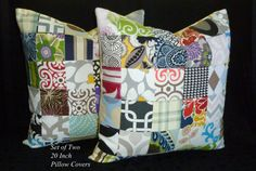 Patchwork Decorative Pillows Throw Pillows Accent by berly731