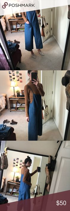 Oak + Fort denim jumper (Not Zara just listed for exposure) One size fits all, oversized denim jumper by Oak + Fort as seen on Jessica Alba. Worn a handful of times and in perfect condition. Zara Pants Jumpsuits & Rompers