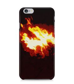 Beautiful Fire with Dark Brown Background 3D Iphone Case for Iphone 3G/4/4g/4s/5/5s/6/6s/6s Plus - ARTXTR0200 - FavCases