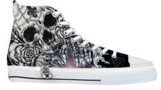 Relic - Womens and Mens Converse Style Shoes Occult Skull Cult Witchcraft Metal Punk  Galaxy Harajuku Tattoo Art Hi High Tops All Star on Etsy, $98.29 CAD