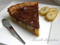 Tarte banane chocolat
