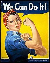 """Rosie the Riveter Poster - """"We Can Do It!"""" 1942 #womenshistory #womenshistorymonth #WHM #USHistory #WWII"""