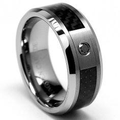 8MM Tungsten Carbide W/ BLACK DIAMOND .050 Carat Wedding Band Ring With Carbon Fiber Inlay Size 10 Metal Masters Co.,http://www.amazon.com/dp/B004C59B2W/ref=cm_sw_r_pi_dp_sK4dsb1KE6KM76Q4