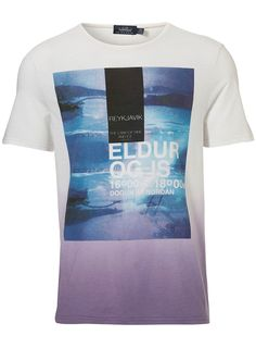 White Dip Dye Print T-Shirt - Mens T-shirts & Vests - Clothing - TOPMAN
