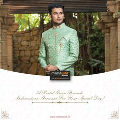 Manawat is an exclusive store and showroom for mens sherwani and other wedding wear like kurta payjama, mens blazer and more. Mens Sherwani, Wedding Sherwani, Wedding Wear, Stylish Men, Mens Suits, Menswear, Blazer, How To Wear, Fashion
