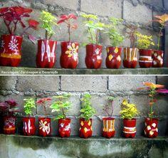 Vasinhos de garrafas PET...