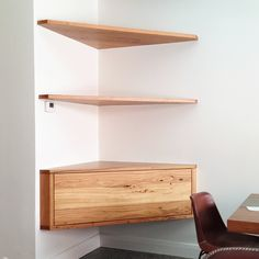 Floating Corner Shelf With Drawers Readers Gallery Fine
