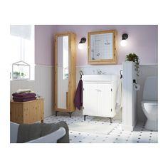 SILVERÅN Mirror Cabinet, Light Brown Light Brown 23 5/8x5 1/2x26 7