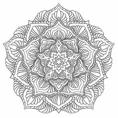 Mandala nr 4 for coloring