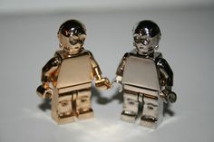 ALL METAL 14K gold plated Lego Star Wars C3PO.