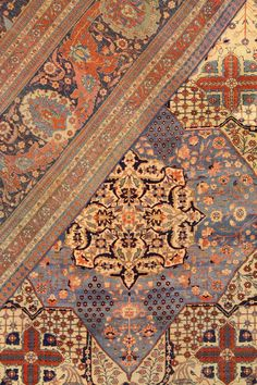 Well-preserved ancient carpets from the including wonderful Saruk Haji Jalili Tabriz Heriz Serapi Farahan Bakshaysh carpets