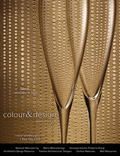 Colour Designs SonziTM Wallcovering Advertisement For January 2013 Issue Of Interior Design Magazine