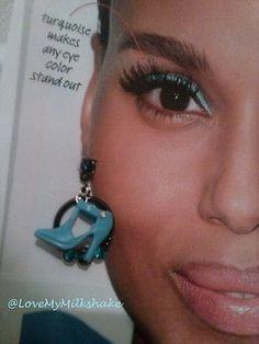 Blue Rhinestone Barbie Shoe Earrings OOAK