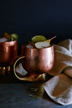 Make It in a #Mug: The Pear Moscow Mule via the #AnthroBlog #Anthropologie
