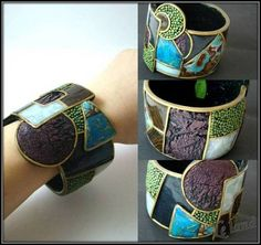 """Cosmobo"" Polymer cuff.  This blog site is translated from Russian and has interesting posts."
