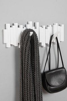 Stick-Stack Wall Hook - great base idea for interesting hooks