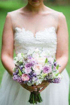 Romantic Purple & Pink Spring Bridal Bouquet McNally Photography on @CVBrides via @aislesociety