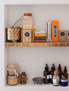 Bathroom Shelves with Portuguese Soaps