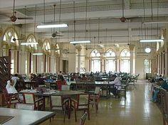 J. N. Petit Library, Mumbai, India. Reading room.