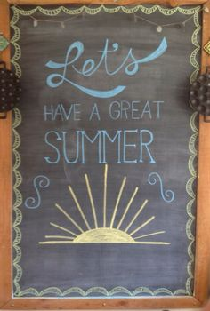 chalkboard wall ideas chalkboard wall bedroom Outstanding Chalk Art Ideas Chalkboard Art In My K Chalkboard Paint Kitchen, Summer Chalkboard Art, Blackboard Art, Chalkboard Writing, Chalkboard Lettering, Chalkboard Designs, Chalkboard Ideas, Framed Chalkboard, Chalkboard Quotes