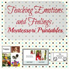 Montessori Nature: Teaching Emotions and Feelings Pack. Montessori Printables