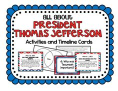 Included in this product: *Jefferson's Presidency Student Timeline Record Sheet *Jefferson's Presidency Task Cards and 2 different record sheets *Jefferson's Presidency Important People Foldable *Loose vs. Strict Interpretation of the Constitution Foldable