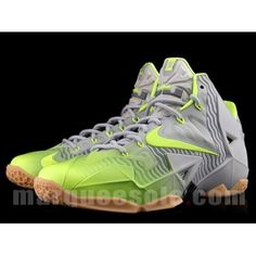 New Colorway of the Nike LeBron 11 Grey/Volt/Gum - First Look on SneakerWatch.com!