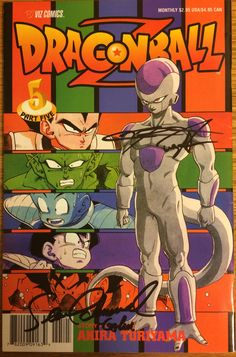 Dragonball Z Part 5, #5 by Viz. Signed in-person by Sean Schemmel (voice actor for Goku) June 4, 2017 at Wizard World Con. Signed in-person by Christopher Sabat (voice actor for Vegita) June 17, 2017 at Awesome Con.