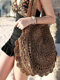 Sun Flower Beach Tote Bag Soft Paper Rope Crochet Round Straw Bag Boho Retro Foldable Shoulder Bag Travel Rattan Bag For WomenColor : White Light Brown Beige Dark Brown Size : Free Occasion : Casual Material : Canvas(out) / Dacron(in) (Units/Inches) Round Straw Bag, Round Bag, Crochet Handbags, Crochet Purses, Crochet Bags, Bohemia Bag, Robes Dos Nu Maxi, Straw Weaving, Ethno Style