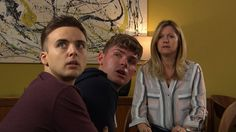 'Guess what? You're under arrest too!' Shock twist in Hollyoaks as Ste Hay is arrested for Amy Barnes' murder. as well as his boyfriend Harry Thompson Ste Hay, Amy Barnes, Kieron Richardson, Hollyoaks, Coronation Street, Home And Away, Tv Shows, Boyfriend, It Cast