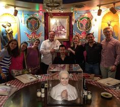 Great friends!  The pope room  #orlando  #italian