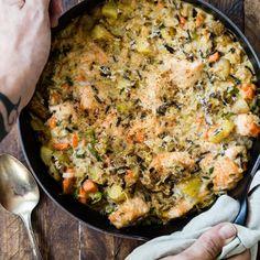 Tuna Rice Casserole, Casserole Recipes, Baking Recipes, Healthy Recipes, Yummy Recipes, Salmon And Rice, Wild Rice, Baked Salmon, Salmon Recipes