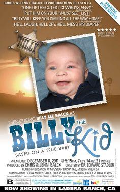 Custom baby boy birth announcement.