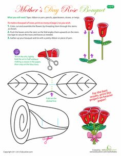 Worksheets: Mother's Day Craft: Make a Bouquet