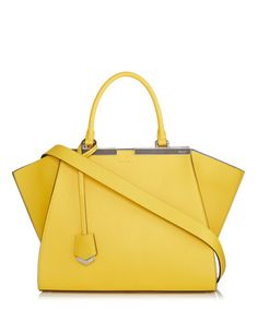 3Jours yellow leather winged tote Sale - Fendi Sale