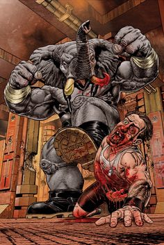 Variant cover art to Elephantmen #5 (2006), by Chris Weston