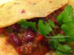 Patrícia is cooking.: Tacos de chili beans {vegan, integral}