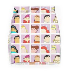 """""""Disney Tiggle Profile"""" Pencil Skirts by LaurasLovelies 