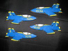 Blue Angel theme jet cookies