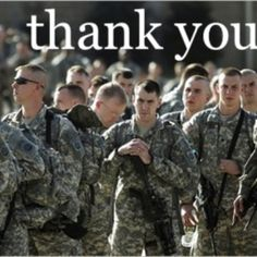 Thanks to our troops