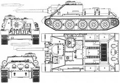 Tank Drawing, Mechanical Engineering Design, Patton Tank, War Thunder, Tank Destroyer, Model Tanks, Tank Design, World Of Tanks, Ww2 Tanks