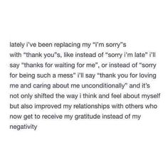 """""""Thank You"""" Instead of """"I'm Sorry"""""""