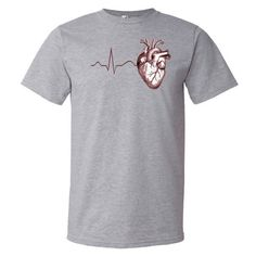 Anatomy Heart ECG T-Shirt (Men's)