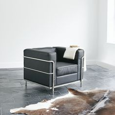 Wallace Sacks Le Corbusier LC2 Petit Modele Inspired Armchair