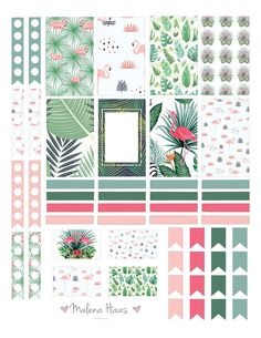 Free Summer Themed Planner Stickers