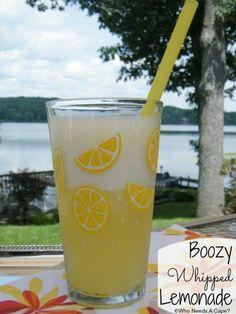 Boozy Whipped Lemonade   Who Needs A Cape? ~ and easy but delish recipe - must pin! #booze #vodka #lemonade #happyhour