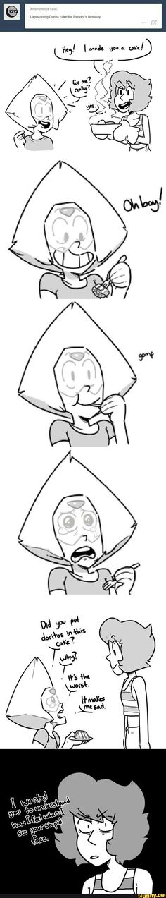What will probably happen in the BarnMates episode   Ps There was a leaked commercial for BarnMates with Peridot trying to give a gift to Lapis and Lapis looking pretty mad